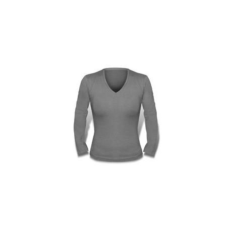 Bella + Canvas Missy 3/4 Sleeve Jersey V-neck T-Shirt (woman)