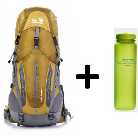 Pack Outlander backpack Capacity 40+5 + Mattress + Bottle