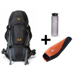 Outlander trekking backpack Denali 80 + Sleeping -10 + Bottle